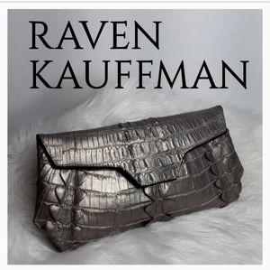 Raven Kauffman Bags - RAVEN KAUFFMAN METTELLIC STELLA CLUTCH
